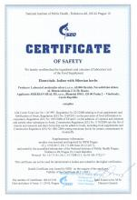 Certificate of safety<br>Elemvitals. Iodine with Siberian herbs Food supplement Elemvitals. Iodine with Siberian herbs, 60 capsules